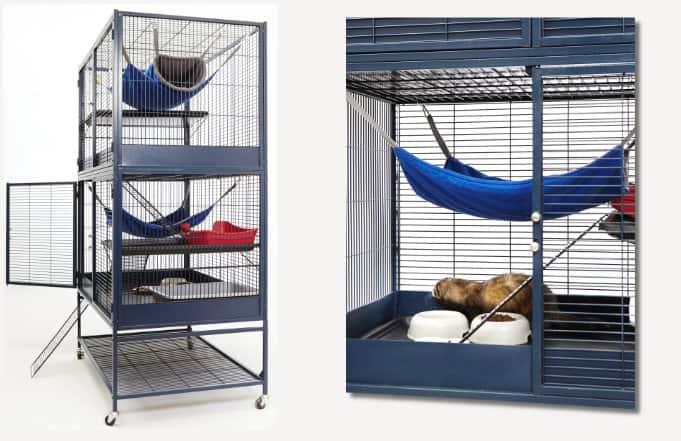 Ferret cage setups
